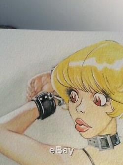 Original Drawing Board Bd Dedication Tribute Natacha Akt Pin Up Art Sexy Woman
