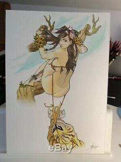 Original Drawing Board Bd Dedication Tribute Navis Wake Pin Up Akt Art Female