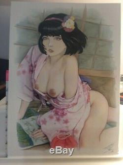 Original Drawing Board Bd Dedication Tribute Yoko Pin Up Akt Art Female Japanese