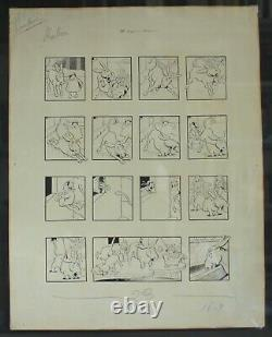 Original Drawing Board Benjamin Rabier (1864-1939) 10 Degrees Below