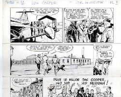 Original Drawing Board Dan Cooper Weinberg Sky Norway Tintin Autograph