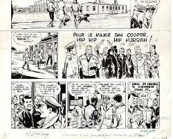Original Drawing Board Dan Cooper Weinberg Sky Of Norway Tintin Autograph