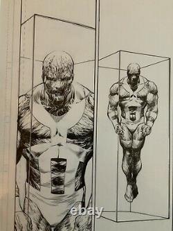 Original Drawing Board Drawing Superman #684 Page 8