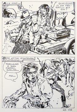 Original Drawing By Victor De La Fuente For Mortimer Western 1974