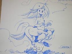 Original Drawing / Centaur Seron Sign 1990 / Rare / Very Good Condition