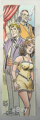 Original Drawing Colors Sign Eddy Paape 3 Characters For Luc Orient