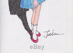 Original Drawing Dedication Of Sophie By Jidehem A4 Paper Drawing