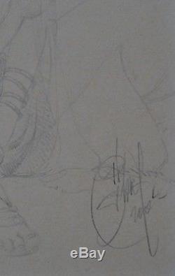 Original Drawing Delaby Muréna Acté