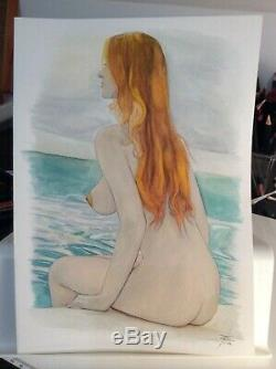 Original Drawing Female Dedicace Board Bd Akt Nudo Nude Female Nude Woman A 008