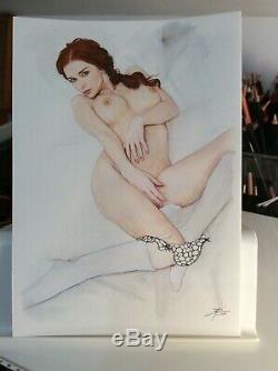 Original Drawing Female Dedicace Board Bd Akt Nudo Nude Female Nude Woman A 009