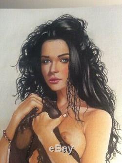 Original Drawing Female Dedicace Board Bd Akt Nudo Nude Female Nude Woman At 036