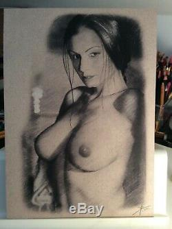 Original Drawing Female Dedicace Board Bd Akt Nudo Nude Female Nude Woman At 042