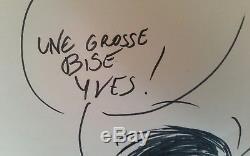 Original Drawing / Gaston / Dedicace Franquin