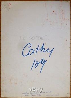 Original Drawing Gouache Of Cortiella Cover Cathy Magazine 1972 Cat