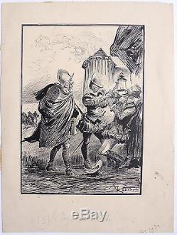 Original Drawing Of Albert Robida (1848-1926) Illustration Of 1893