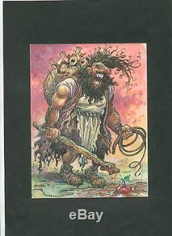 Original Drawing Of The Ogre By Aouamri (the Quest Of The Time Bird) Tbe