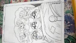 Original Drawing Pencil Esteban Who Works For Disney Plank Oroginal D A