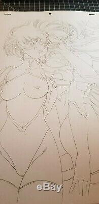 Original Drawing Satoshi Urushihara Chirality Hanken Anime Cel Plank Cover