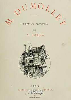 Original Drawings Albert Robida (1848-1926) Illustration Dinan Bretagne Drawing