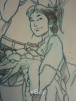 Original Drawings Nicolas Malfin Golden City / The Lost Children