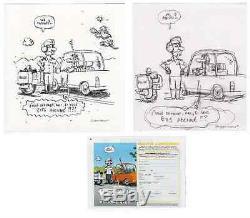 Original Drawings / Subscription Spirou / Cromheecke / J M Thiriet / Tom Carbon / Plunk