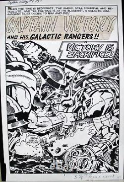 Original Kirby Board Original Art Captain Victory 1982 Tbe Splash