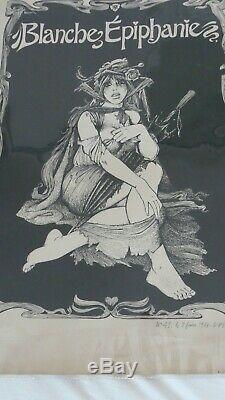 Original Lithograph Bd G. Pichard White Epiphany Paulette Eroticism Charlie