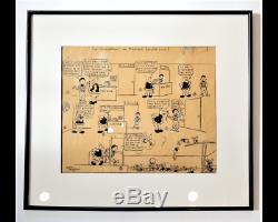 Original Page Alain Saint-ogan The Adventures Of Prosper 1934 Signed, Framed