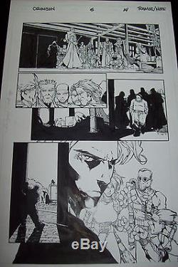Original Page Humberto Ramos Crimson # 5 Page 14