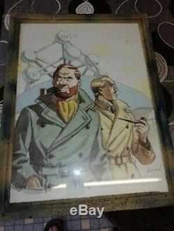 Original Plank Comics Encadrees Signed
