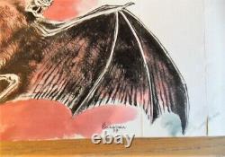 Original Plank Watercolor Color Drawings By René Hausman The Vampire