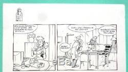 Original Plate Alain Sirvent Comics Book Drawing The Original Toubibs