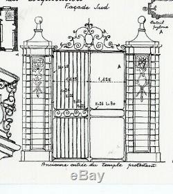 Original Plate Drawings Houses Auxerre Yonne Architecture