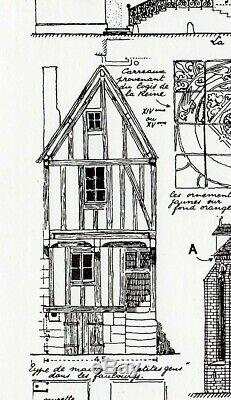 Original Plate Drawings Thunder Yonne Houses Architecture