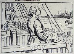 Original Plate Georges Quesnel Drawing 1910 Drawing Émigré Louis XVI