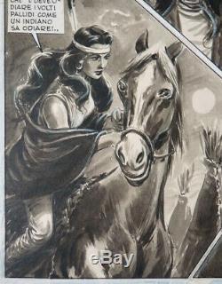 Original Plate It Passo Degli Avvoltoi Bozzi Of Western Published In 1952