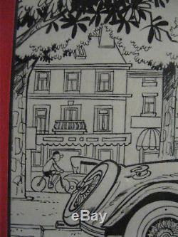 Original Plate Mittéï Mounted Lamp Tintin 32 P12 / 13 1/1 Of 1965
