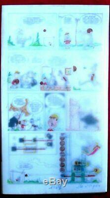 Original Plate Of Erik Comics Book Fulminate Drawing Origin