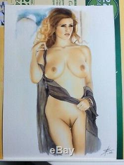Original Sketch Drawing Board Bd Dedication Tribute Woman Up Art Akt By Author