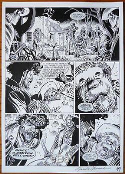 Original Tex Board By Giancarlo Alessandrini Western Comic Strip