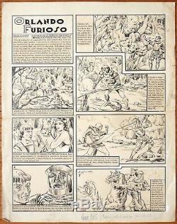 Orlando Furioso Original Plate By Giovanni Bissietta Around 1939