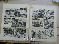 P 1 20 Original Plank Drawing Bd Ink Jacques Flash 24 Hours Of Le Mans Complete