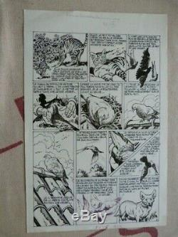 P 1 History Complete 3 Planche Drawing Original Nortier Vaillant Pif