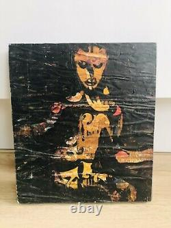 Paintings In Mache Paper On Wood Board