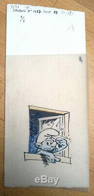 Peyo Original Drawing Schtroumpf