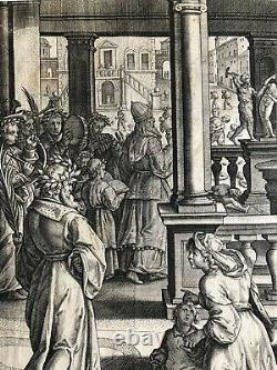 Philip Galle, Planche 25 After A Drawing By Dadrian Collaert, Circa 1590, Former
