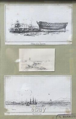 Pierre Letuaire (1798-1885), Drawing Board And Cartoons, Signed