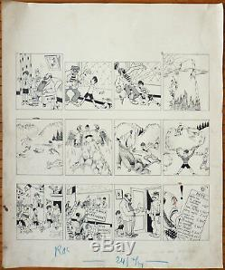 Pitchounet Original Comic Strip From Mat Published In Ric Et Rac In 1930
