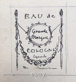 Plank Original Drawings Projects Labels Cologne Water Perfume Gueldy 1921