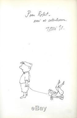 Rare 1969 Tomi Ungerer + Dedication & Original Drawing The Party